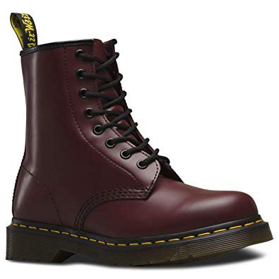 Amazon.com | Dr. Martens 1460 Originals 8 Eye Lace Up Boot, Cherry Red Rouge Leather, 5UK / 6 US Mens / 7 US Womens, 38 EU | Motorcycle & Combat