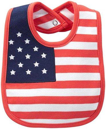 Amazon.com: Carter's Big Boys' 4th of July Bib (Baby) - White - One Size: Baby