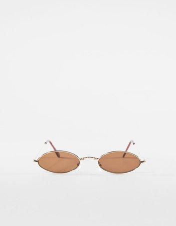Owalne okulary przeciwsłoneczne - AKCESORIA - Kobieta | Bershka