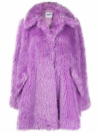 MSGM Faux Fur Coat - Farfetch