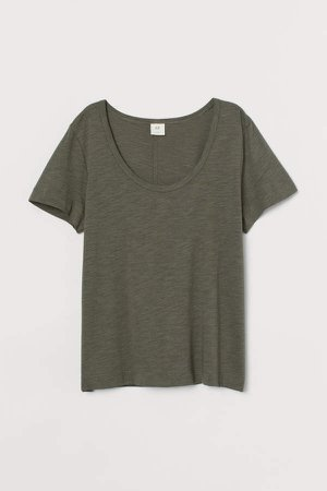 Slub Jersey T-shirt - Green