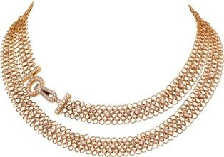 Cartier Gold Agrafe Necklace