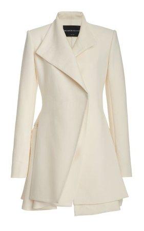 Layered Wool-Silk Mini Blazer Dress By Brandon Maxwell   Moda Operandi