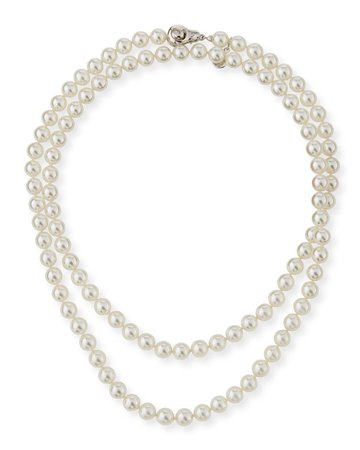 """Majorica 35"""" 8mm Simulated Pearl Necklace with Moveable Clasp"""