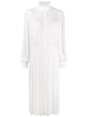 Alberta Ferretti Pleated Midi Shirt Dress Ss20 | Farfetch.com