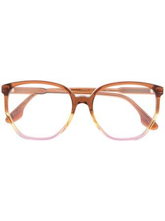 Victoria Beckham Eyewear round-frame glasses orange VB2613 - Farfetch
