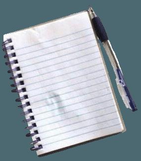 notebook pen filler png