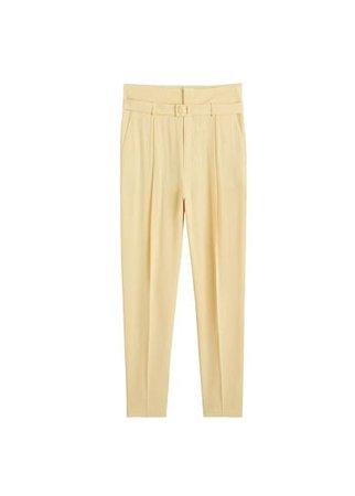 MANGO Belt modal trousers