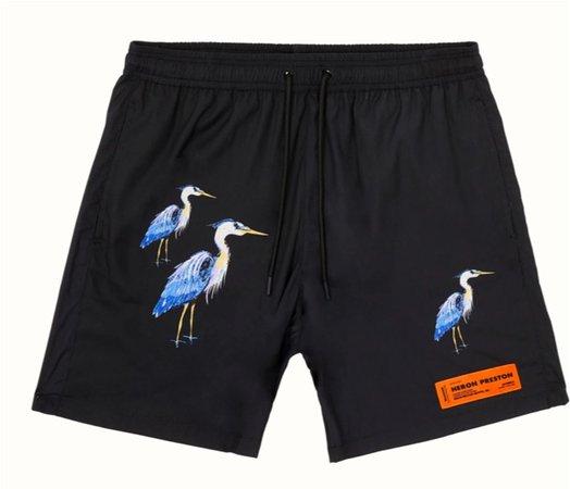 heron preston swim shorts