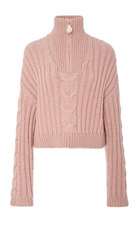 Eria Cable-Knit Cropped Sweater by Nanushka | Moda Operandi