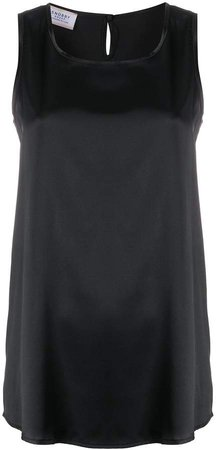 scoop-neck satin tank top