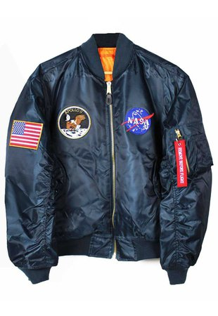 Shop :: Vintage / Branded :: Outerwear :: Apollo 11 NASA MA-1 Bomber Jacket - Agora Clothing - Shop - Products