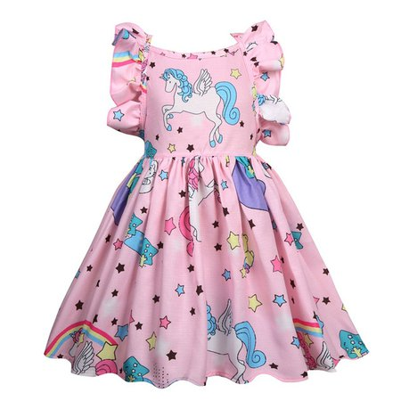 Unicorn Dress 2018 Summer Dresses for Girls Princess Birthday Party Dress Children Trolls Costume Kids Clothes Vestido 3 10Y-in Dresses from Mother & Kids on Aliexpress.com | Alibaba Group
