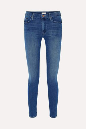 The Looker High-rise Skinny Jeans - Dark denim