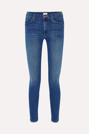 The Looker High-rise Skinny Jeans - Dark denim