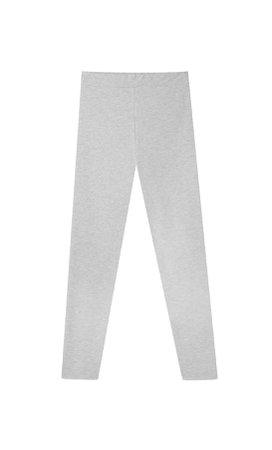grey Basic leggings - Women's Just in | Stradivarius United States