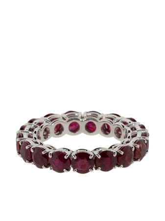 Shop red BAYCO 18kt white gold ruby ring with Express Delivery - Farfetch