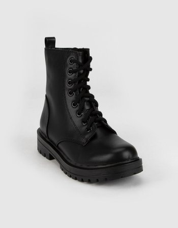 SODA Lug Sole Womens Black Combat Boots - BLACK - 380964100 | Tillys