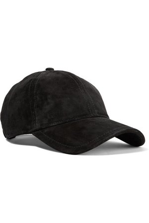 rag & bone | Marilyn leather-trimmed suede baseball cap | NET-A-PORTER.COM