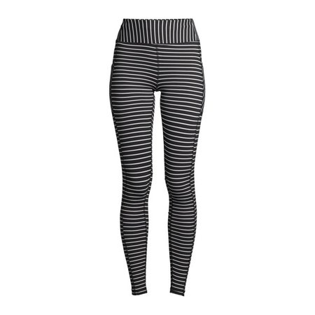 black Avia - Avia Women's Active Performance Striped Leggings - Walmart.com - Walmart.com