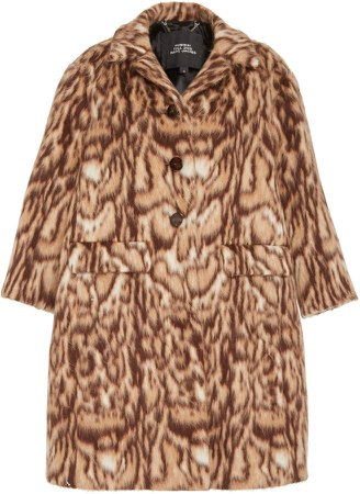 Marc Jacobs Ocelot Brushed Cocoon Coat