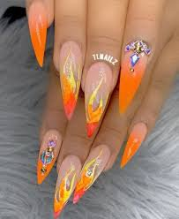 glitter flame nails - Google Search
