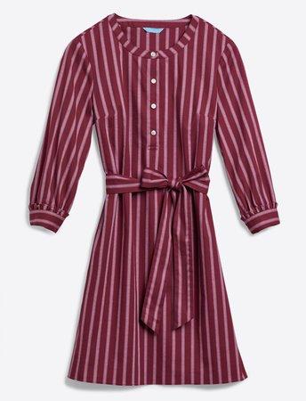 Berry Stripe Belted Shift Dress – Draper James