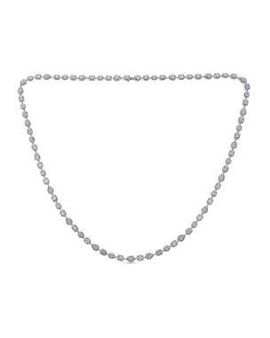 ZYDO Mosaic 18k White Gold Diamond Tennis Necklace | Neiman Marcus