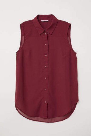 Sleeveless Blouse - Red