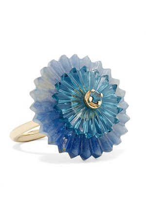 Alice Cicolini | Summer Snow 9-karat gold multi-stone ring | NET-A-PORTER.COM