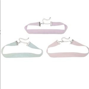 Pastel Glitter Choker 3-pk   Hot Topic