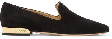 Jaida Suede Loafers - Black
