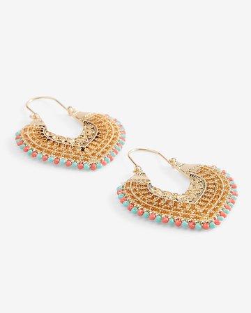 Filigree Beaded Drop Earrings | Express