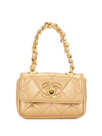 Chanel Pre-Owned 1990 Quilted CC Mini Bag - Farfetch