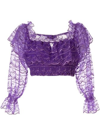 ALICE MCCALL Satellite Of Love cropped lace top