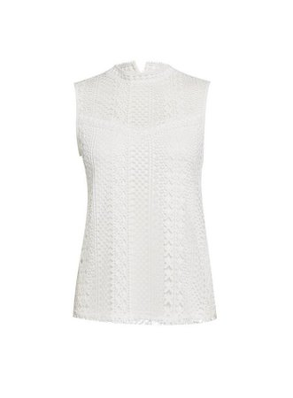 White Sleeveless Lace Blouse | Dorothy Perkins