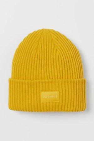 Rib-knit Hat - Yellow - Ladies | H&M US
