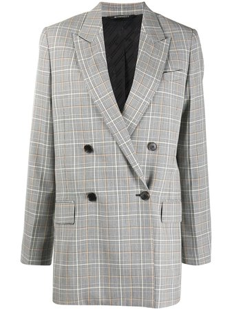 Givenchy check-pattern double-breasted blazer - FARFETCH