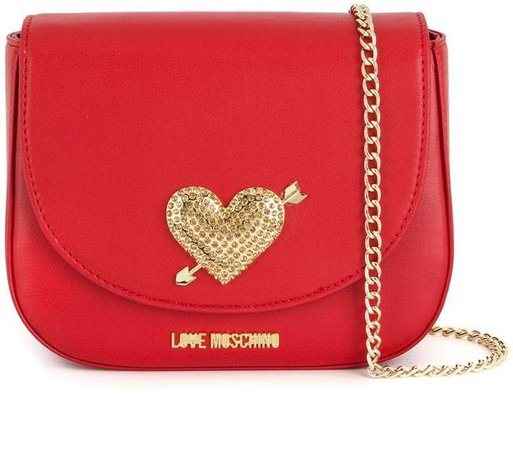 embellished heart shoulder bag