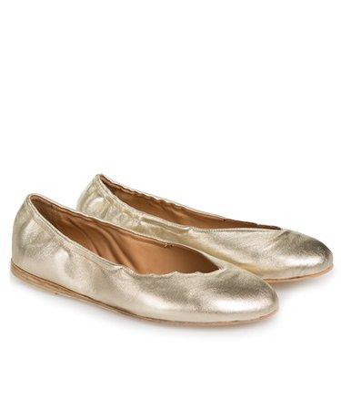 ANCIENT GREEK SANDALS Platinum The Wing Ballerinas < NEW | aesthet.com