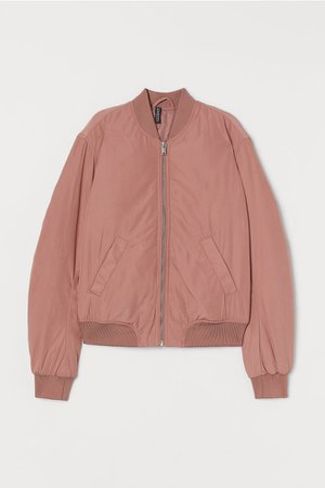 Padded Bomber Jacket - Dusty rose - Ladies | H&M US