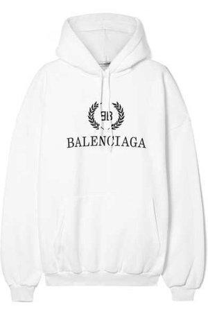 Balenciaga | Oversized printed cotton-blend jersey hooded top | NET-A-PORTER.COM