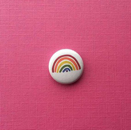 Rainbow Pin // Button Pin