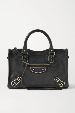 Black Classic City nano textured-leather tote | Balenciaga | NET-A-PORTER