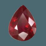 Pear Cut Red Ruby Gemstone