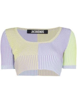 Jacquemus La Maille Yauco Ribbed Cropped Top Ss20