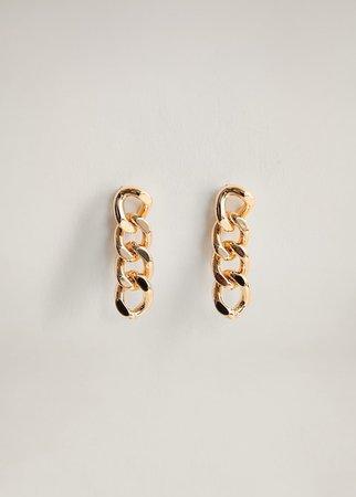 Link earrings - Women | Mango USA gold