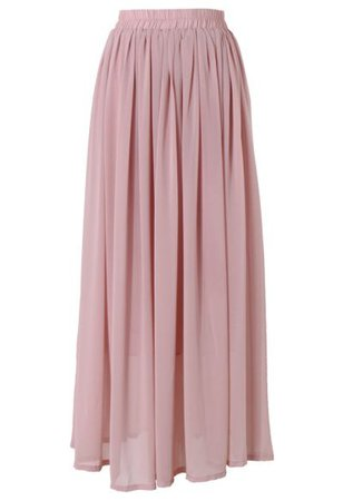Chic Wish Purple Pleated Maxi Skirt - Retro, Indie and Unique Fashion