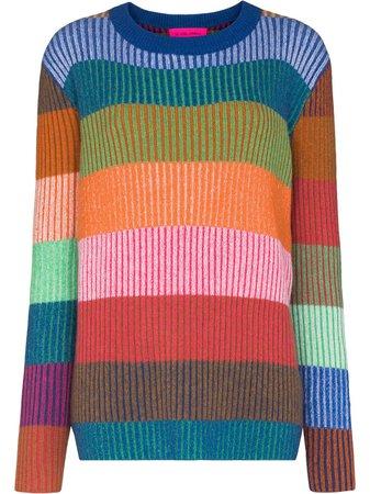 The Elder Statesman Yatzy Striped Cashmere Jumper - Farfetch