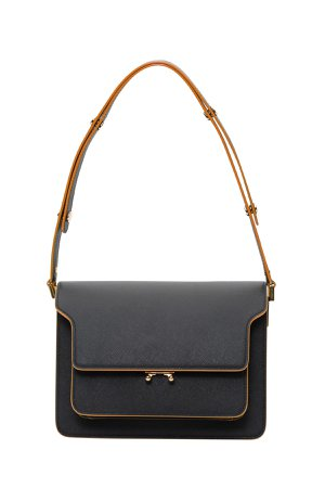 Marni Contrasting Piping Trunk Shoulder Bag
